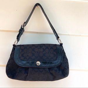 Coach Black Canvas Shoulder Bag/Handbag